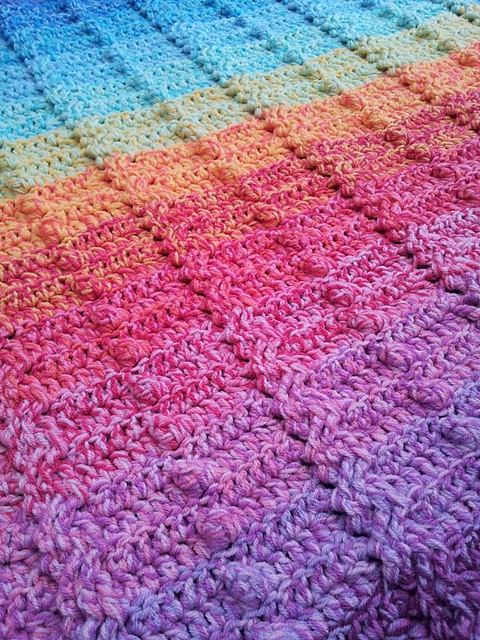 Ravelry Cable And Bobble Stitch Blanket Pattern By Dedri Uys