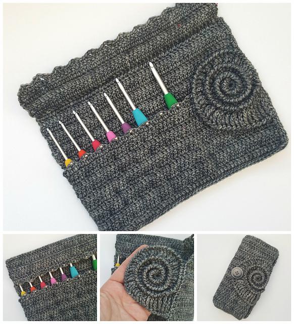 Ravelry Ammonite Crochet Hook Roll Pattern By Dedri Uys