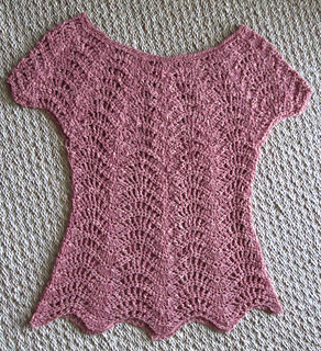 d1b8c940a811 Ravelry  Feather and Fan Top pattern by Rebecca Averill
