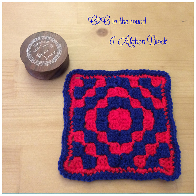 Ravelry C2c In The Round Afghan Block Pattern By Becci Louise Designs