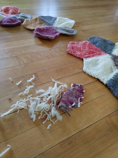 felted rug bits