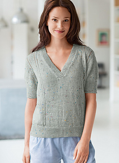 Ravelry: #07 Short Sleeve V-Neck Sweater pattern by Bergère de France