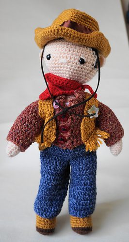 Ravelry Cowboy Outfit My Little Crochet Doll Pattern By