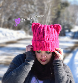 Ravelry  Kitty Cat Hat pattern by Sonya Blackstone 77f737686c1