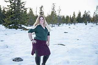 c870cb8d Ravelry: Vinterskjørt med splitt pattern by Fru HS
