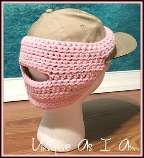 patterns   Susan Preston s Ravelry Store.   Girl s Ball Cap Earwarmer ... bad06d4e404