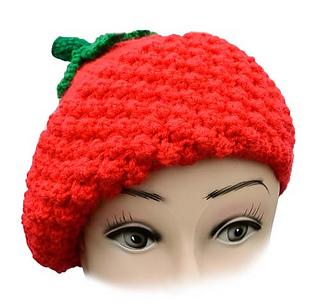 38369199be2ab Ravelry  Raspberry beret pattern by Linda Moorhouse