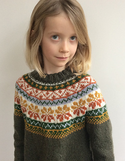 Ravelry S27 8 Prairie Fairy Jumper Pattern By Drops Design