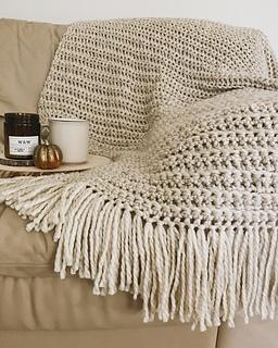 Ravelry Chunky Crochet Fringe Blanket Pattern By Brenna Ann