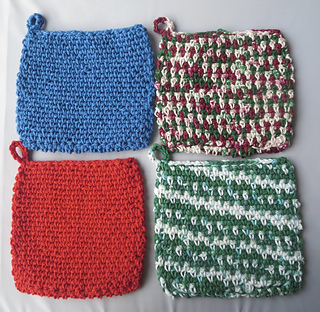 Ravelry Easy Double Sided Potholder Pattern By Laura Wilson