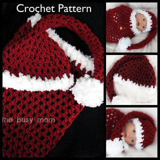 Ravelry: Santa Baby Cocoon and Matching Sleeper Hat Set ...