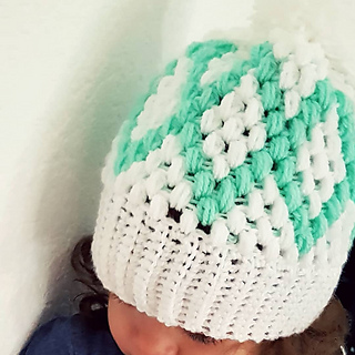 60a52d2d1e7 Ravelry  Diamonds Puff Beanie pattern by By Katerina