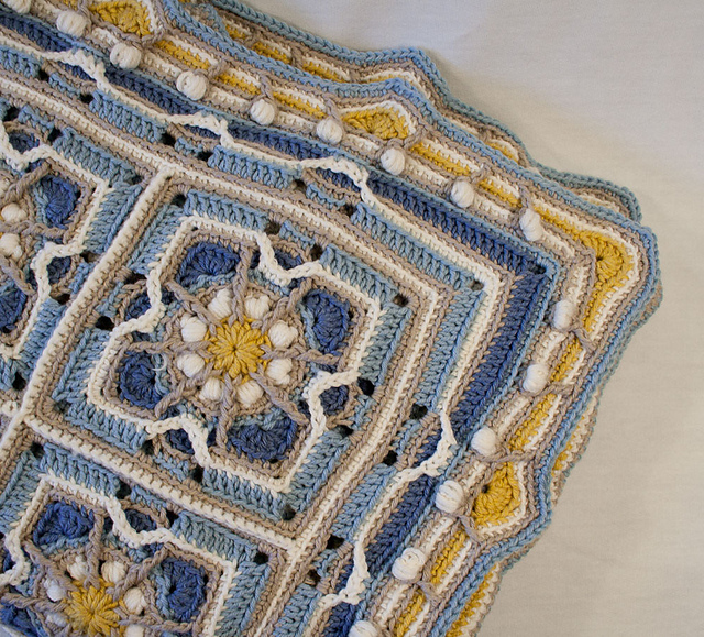 Ravelry Baby Blanket In Overlay Crochet Pattern By Carocreated Design