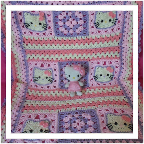 Ravelry Hello Kitty Baby Blanket Pattern By Joanita Theron
