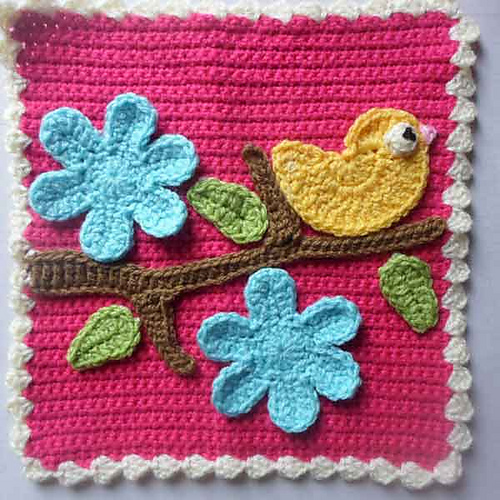 Ravelry Bird And Flower Applique Set Pattern By Joanita Theron