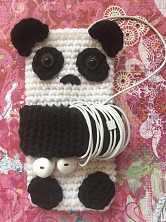 Ravelry Cute Panda Cell Phone Case Pattern By Tiffany Monson