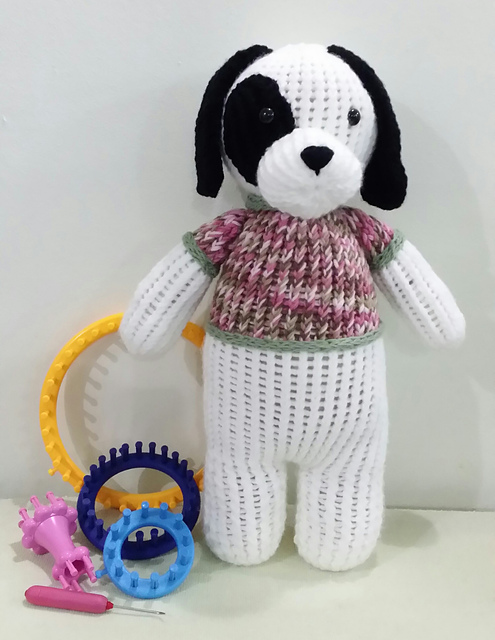 Ravelry: Loom Knit Super Big Dog pattern by CHRISTIE FOO