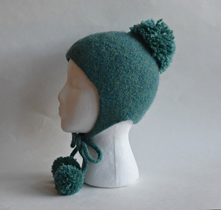 Ravelry  Ear Flaps and Pom Poms Felted Hat pattern by Cindy Pilon 3a014391720e