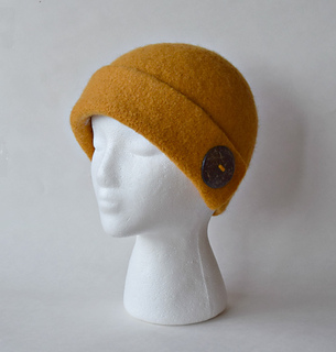 Ravelry  Cuffed Cloche Felted Hat pattern by Cindy Pilon 832e625bd63f