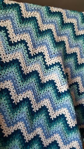 Ravelry: V-Stitch Ripple Afghan pattern by Kara Gunza