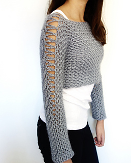 5f5c94c4c Ravelry  Alexia Cropped Sweater pattern by Camelia Mit