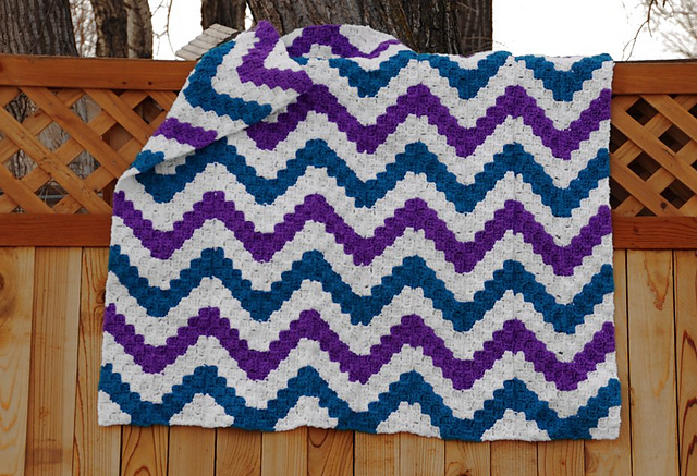 Ravelry C2c Mile A Minute Chevron Corner To Corner Pattern By