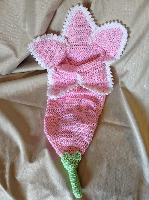 Ravelry Spring Flower Newborn Cocoon Pattern By Karen Vaughn