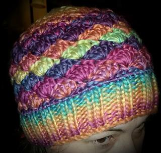 f2834ca15 Ravelry: Messy Shell Stitch Bun Hat pattern by Carries Corner Crochet