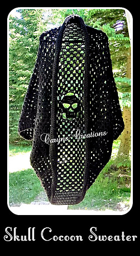 Ravelry Skull Cocoon Sweater Pattern By Caryns Creations