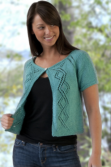 Ravelry Top Down Summer Lace Cardigan Shrug Pattern By Vera Sanon