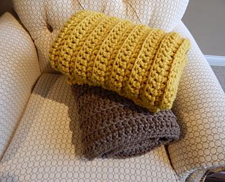 e63a6e2855 Ravelry  Ribbed Crochet Blanket pattern by Peg Barrows