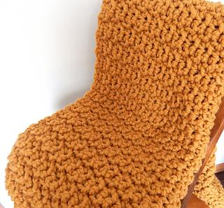 3aa1f5479d Ravelry  Chunky Farmhouse Blanket pattern by Peg Barrows
