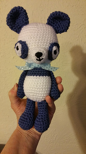 Amigurumi Bigfoot Panda : Ravelry: Little Bigfoot Panda 2014 pattern by Sharon Ojala