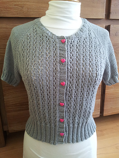 10ba59adc534 Ravelry  Top-Down Raglan Summer Lace Cardigan pattern by Elaine ...