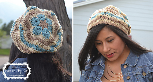 Ravelry Flower Ripples Slouch Hat Pattern By Janaya Chouinard