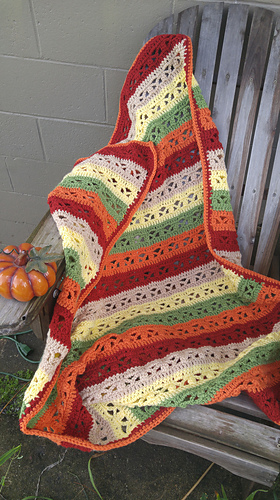 Ravelry Fall Fantasy Crochet Throw Pattern By Shelly Of