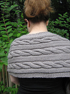 347eb110d8e008 Ravelry  Cable Wrap Shawl pattern by Jo Sharp