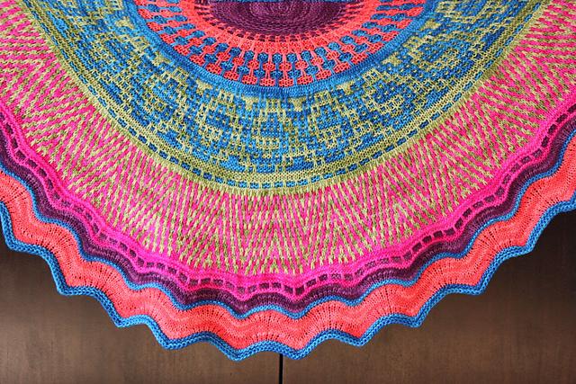 Ravelry Rangoli Shawl Pattern By Knitstar Designs By Chetna Patel