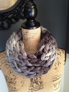 Ravelry Chunky Loom Knit Infinity Cowl Pattern By Chewy Tart