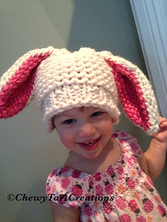 Ravelry floppy bunny hat loom knit pattern pattern by chewy tart dt1010fo