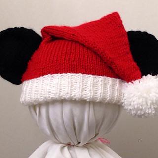 90913b736de1d Ravelry  Mickey Mouse Santa Hat pattern by Cynthia Diosdado
