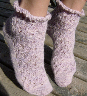 Ravelry: Toe Up Milanese Lace Socks pattern by Cindy ...