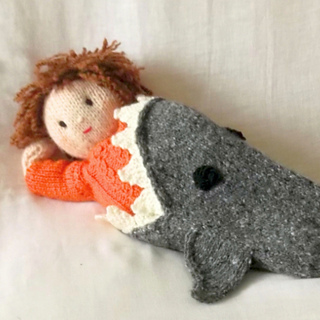 Ravelry Shark Attack Dolls Blanket Pattern By Claire Fairall Designs