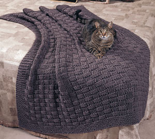 Ravelry Basket Weave Comfy Afghan Pattern By Linda Luder
