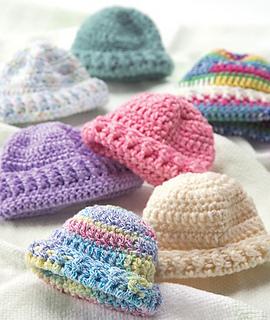 Ravelry  Preemie Hats   Newborn Cap (Crochet) pattern by Red Heart Design  Team 35f504836