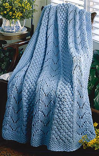 Ravelry Endearing Fan Knit Afghan Pattern By Lee Tribett