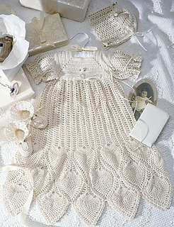 Ravelry Pineapple Christening Gown Set Pattern By Kay Meadors