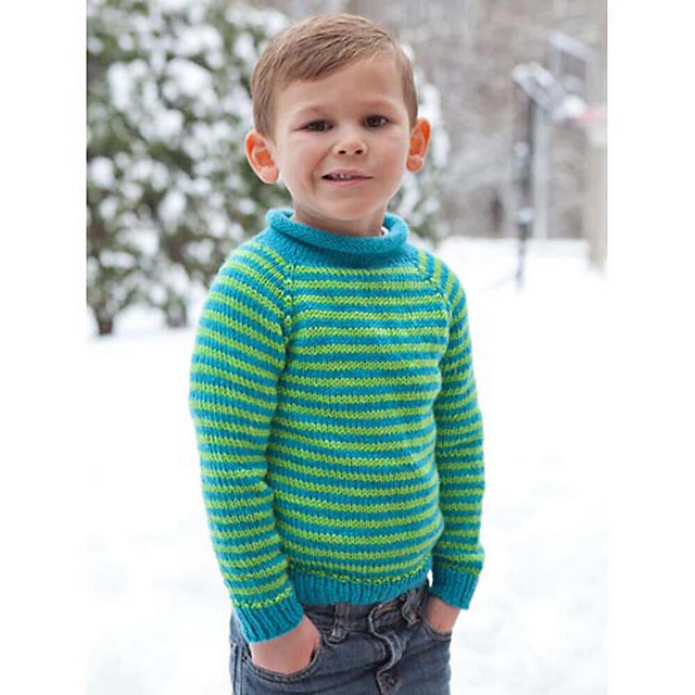 Ravelry Knit For Kids Top Down Pullover Pattern By Diane Soucy