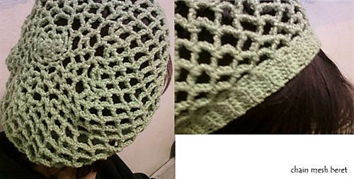 Ravelry Chain Mesh Beret Pattern By Laura Bombach