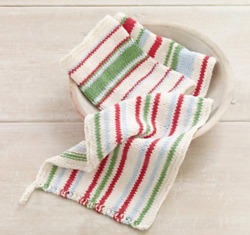 Ravelry Knit Striped Dishcloths Pattern By Lion Brand Yarn